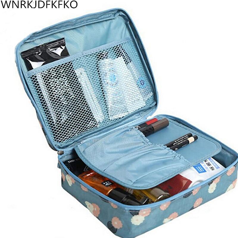 Waterproof Portable Zipper Cosmetic Bag  Beauty Case Makeup Storage Bag Storage Travel Organizer For Toiletries Toiletry Kit