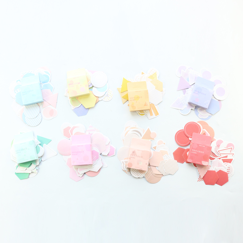 Dimikee Cute Colored Decoration DIY Diary Planner Tag Sticker Accessories Kawaii Gift Packing Seal Stickers Stationery 46pcs