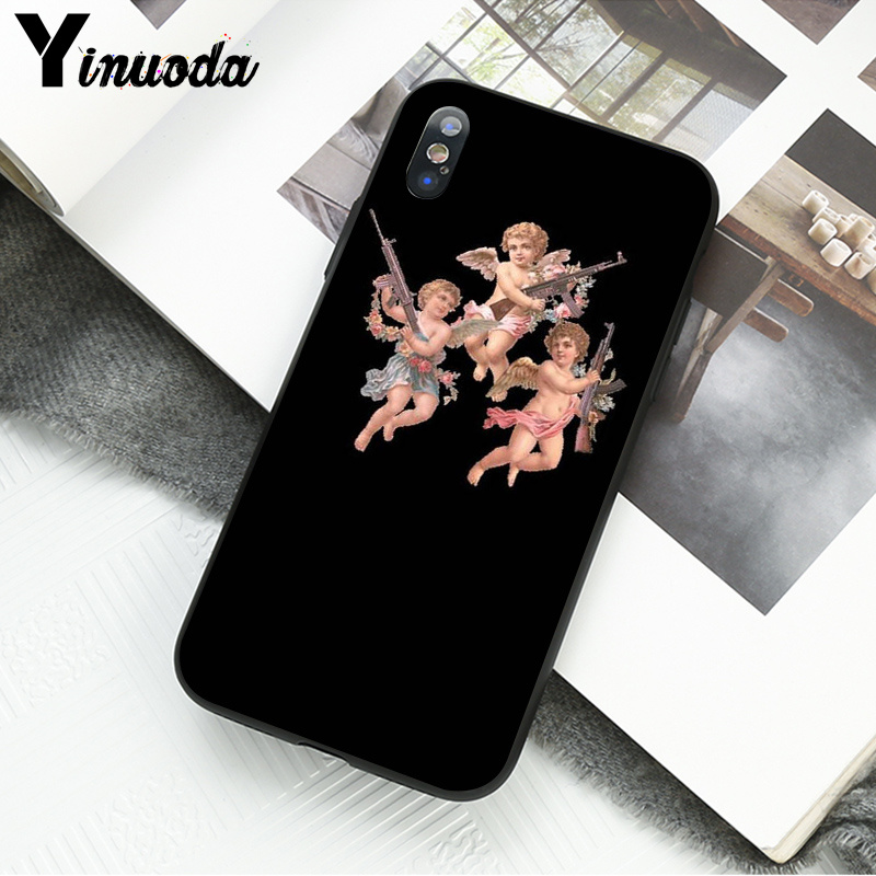 Yinuoda Renaissance angels Custom Photo Soft Phone Case for Apple iPhone 8 7 6 6S Plus X XS MAX 5 5S SE XR Cover in Half wrapped Cases from Cellphones Telecommunications