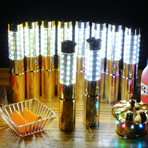 Silver or Gold Flashing LED Sparklers Bottle Strobe Baton for Champagne Bottles(China)
