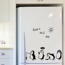 2019 Have a Nice Day Cute Animals Penguin Refrigerator Sticker