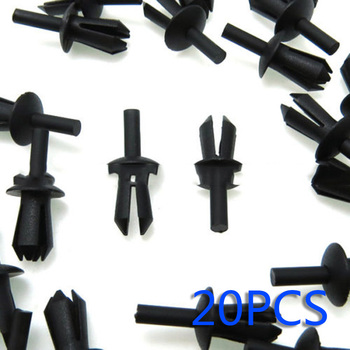 20x 20PCS Black For BMW E12 E28 E30 E34 E36 E39 E46 E60 Left Rivets Expanding Trim Clips For Bumpers Sills Nylon New image