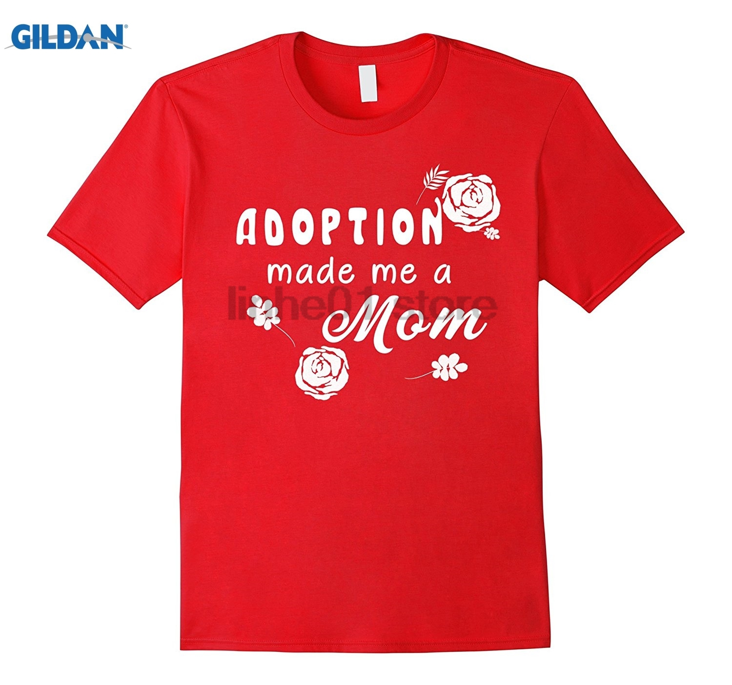 GILDAN Christian T-Shirt Adoption Made Me a Mom Christian Tee Gift Hot Womens T-shirt su ...