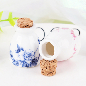 Image 2 - DIY Nail Art Tools Peony/Magpie Mini Ceramic Glass Dappen Dish Bowl Cup With Wood Lid Acrylic Liquid Glitter Powder Bottle