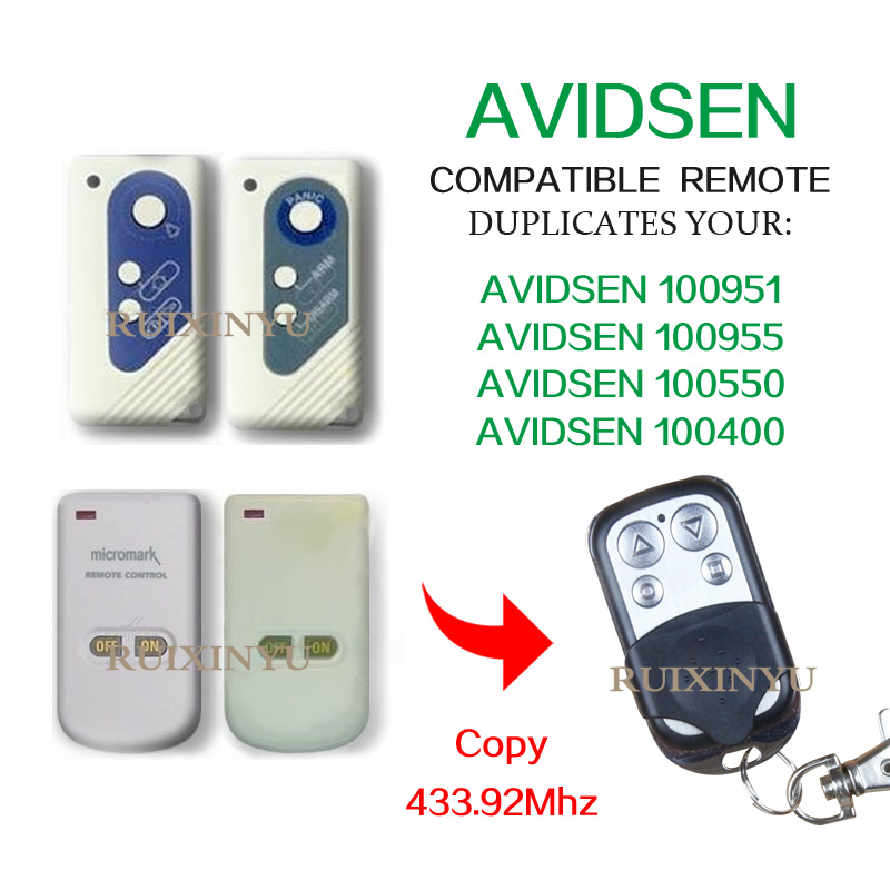 AVIDSEN 100951/AVIDSEN 100955/AVIDSEN 100550/100400 di Alta qualità 433.92 Mhz copia porta Del Garage porta ribaltabile Barriera di controllo remoto