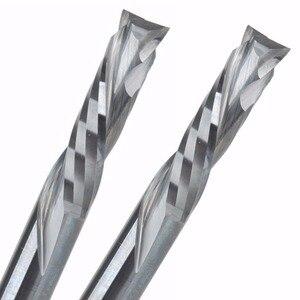 Image 1 - 2 sztuk 6x25MM AAA Up Down Cut 2 spiralne zwoje węglika młyn, frezowanie cnc frez, narzędzia skrawające do obróbki drewna frez