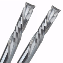 2Pcs 6x25MM AAA Up Down Cut  2 Spiral Flute Carbide Mill,CNC Milling Cutter,Woodworking Cutting Tools Router Bit