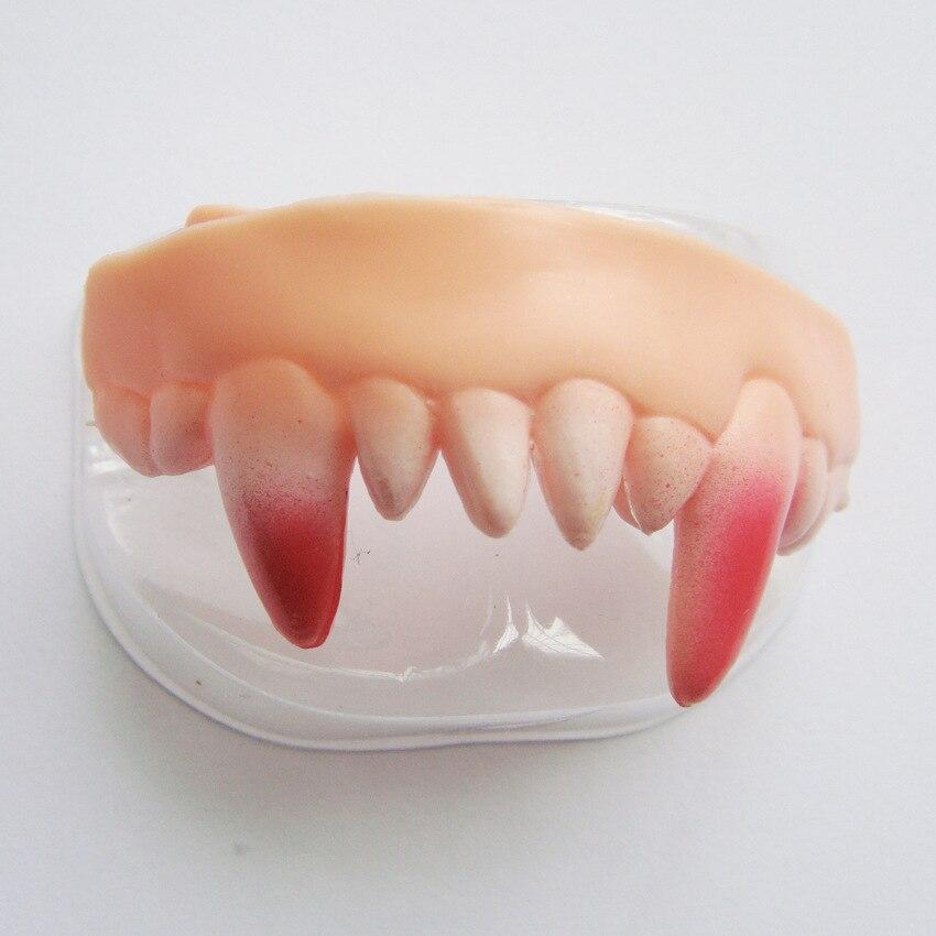 100 pcs dentes dentadura vampiro dia 04
