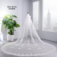 Exquisite Cathedral Veil Wedding Two Layer Soft Tulle Veil Elegant 2018 Bridal Accessories 5 stars