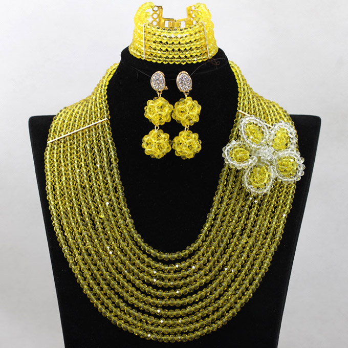 Gorgeous Mustard Yellow African Wedding Crystal Jewelry Set Flower Brooch Women Party Jewelry Gift Necklace Free Shipping WA817Gorgeous Mustard Yellow African Wedding Crystal Jewelry Set Flower Brooch Women Party Jewelry Gift Necklace Free Shipping WA817