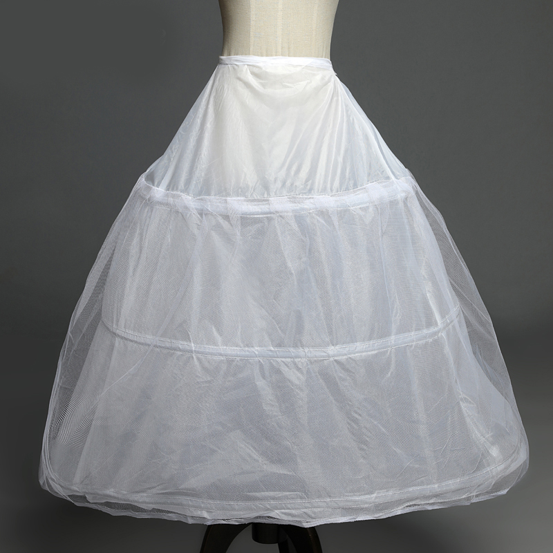 In Stock 3 Hoops Petticoats for wedding dress Wedding Accessories Free Shipping Crinoline Cheap Underskirt For
