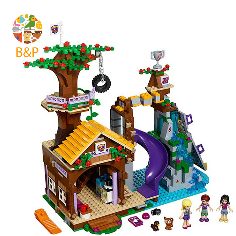 Adventure Camp Tree House 739 Pcs Mini Bricks 41122 Girls Legoing Friends Series Set Building Blocks Toy For Children 10497 Gift 739pcs compatible with legoing friends adventure camp tree house emma mia building block bricks figure 41122 toys for children