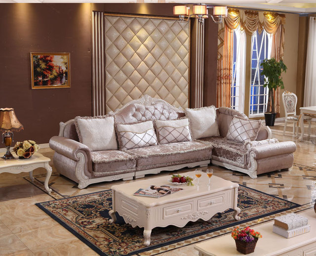 2017 New Arrival Wood Furniture Sofa Sets Clical European Style High Quality Living