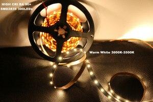 Image 2 - DIY LED U HOME yüksek CRI RA 90 + LED şerit ışıkları 2835SMD 12V DC 5M 300leds olmayan su geçirmez LED aydınlatma tatil odası mutfak