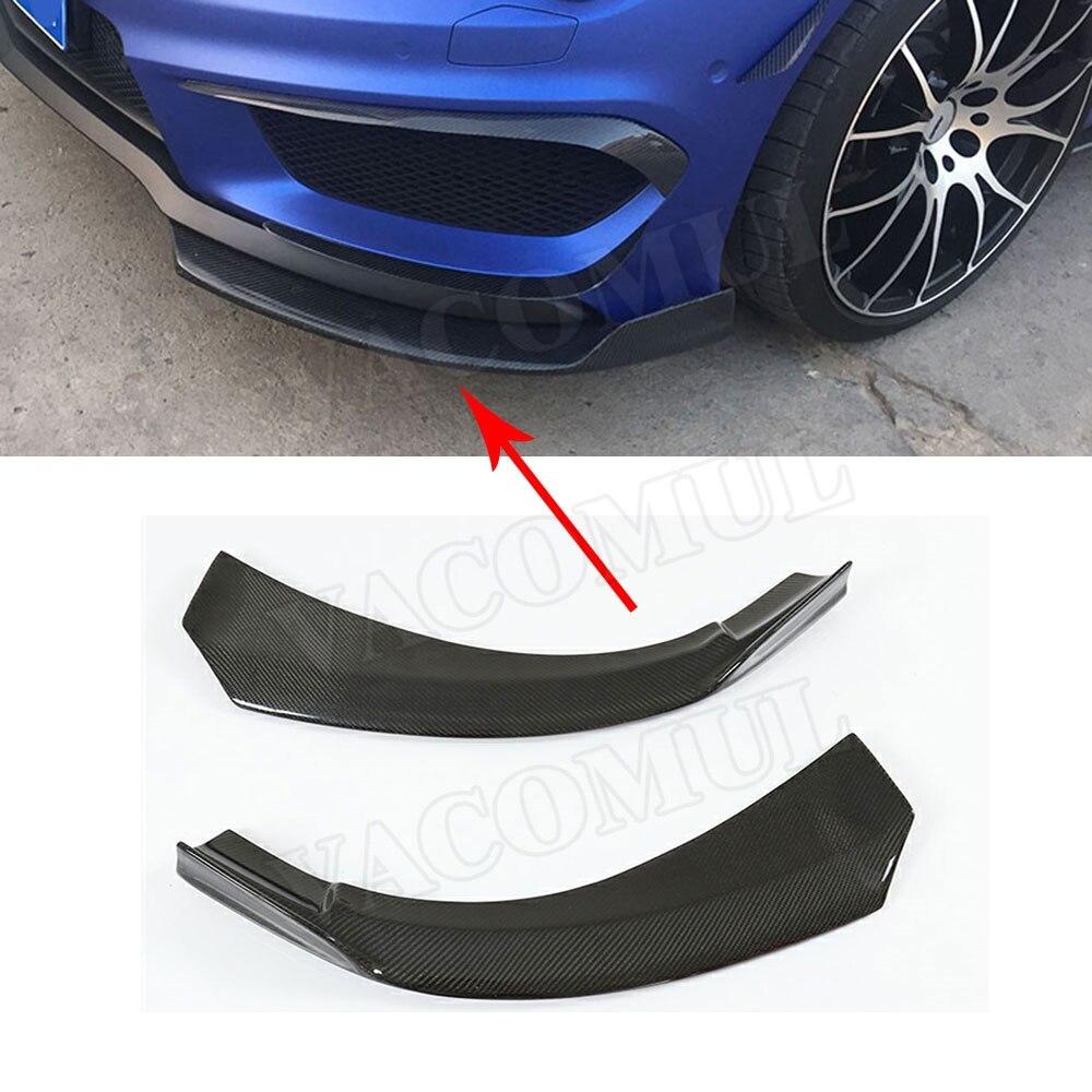 Carbon Fiber Front Bumper Splitters Spoiler Side Canards Fog Lamps Trims A Class for Mercedes Benz A180 A200 A250 AMG A45 13-16 for mercedes benz cla class w117 cla180 cla200 cla250 cla45 amg carbon fiber front lip splitter flap canard fits sporty car amg