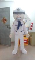 2017 Hot sale Cartoon white navy Mascot Costume Adult cartoon Halloween Mascot Costume