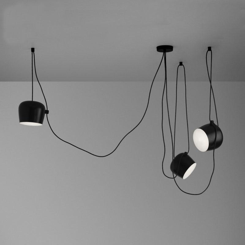 Haute Réplique Avec Acrylique Couverture OBJECTIF 3 Lumières Pendentif Lampes Pour Salon Industriel DIY led Lumière En Aluminium Abajur lamparas
