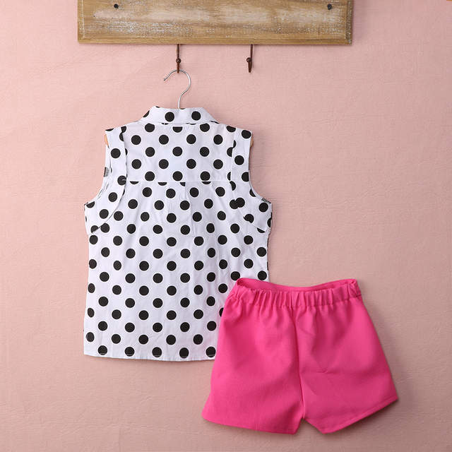 700573557be6 Online Shop new summer girls clothing sets girl baby clothes polka dot coat  + pink pants baby clothing