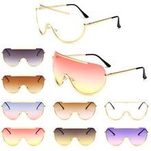 цена на Oversized Shield Sunglasses Retro Square Clear Colored Classic Elegance Frame PC Lens AC Sunglasses Optical Sexy Eyeglass UV400