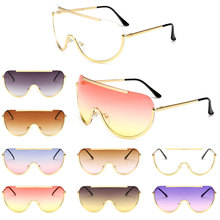 Oversized Shield Sunglasses Retro Square Clear Colored Class