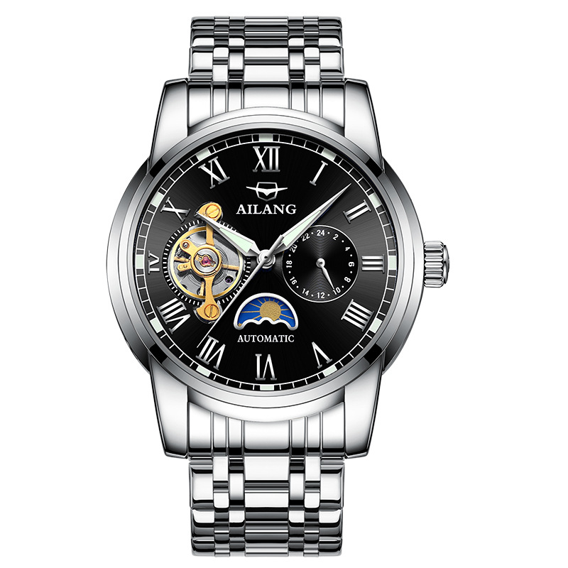 AILANG 8602 Switzerland watches men luxury brand Moon phase automatic mechanical watch hollow flywheel mens watchAILANG 8602 Switzerland watches men luxury brand Moon phase automatic mechanical watch hollow flywheel mens watch