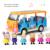 Rosa Cerdo Cerdo Juguetes Amigos Autobús Escolar Aula PVC Acción cifras prtend play juguetes educativos regalo de cumpleaños para niñas niños