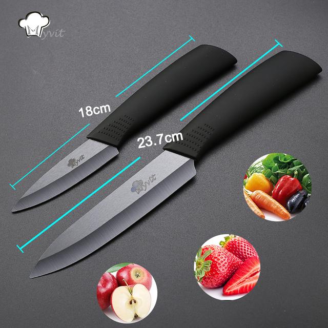 Myvit brand Kitchen Ceramic Knives 3″ Paring 5″ Slicing Ceramic Knife Black Blade Kitchen Knives Cooking tools