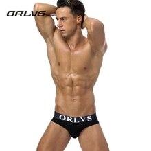 PENES ORLVS 4PC Men's Underwear Sexy Sport Cotton Briefs Open Butt