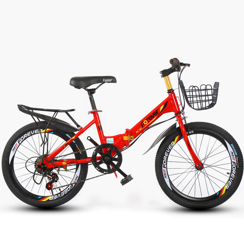 20inch Children's Mountain Bike Folding Single Speed And 6 Variable Speed Kids' Bike Student Bicycle Gift For Boys And Girls