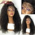 180% Плотность Фронта Шнурка Человеческих Волос Парики Черные Женщины Вьющиеся Кружева Парик фронта Glueless Полное Кружева Парики Человеческих Волос С Волосами Младенца