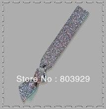 "Elástico Prata Glitter Cabelo Ribbon Ties 5/8 ""Fita De Veludo Metálico Laço de Cabelo Menina Laço de Cabelo"