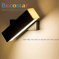 Becostar Modern 6w LED Wall Lamp 360 degree rotation adjustable bedside light living room corridor Reading sconces led Bulb