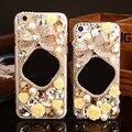 Caso espelho para iphone 7 plus 7 6 6 s plus 5S 5 se 4S 4 5c caso Bling Do cristal de Diamante bowknot coque Capa Fundas Capa de diamante