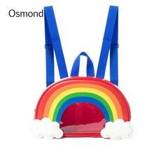 Осмонд Радуга рюкзак с принтом ярких цветов новые летние Для женщин рюкзак мини Для женщин мода небольшая сумка для хранения для Обувь для девочек