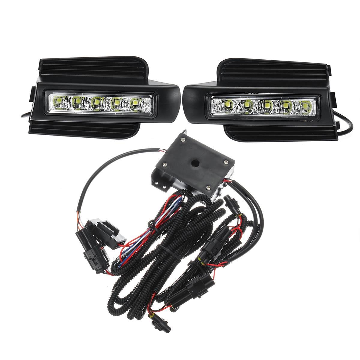 E4 Mark feux de jour antibrouillard accessoires LED DRL pour Toyota Land Cruiser Prado 120 GRJ120 TRJ120 FJ120 2003 ~ 2009