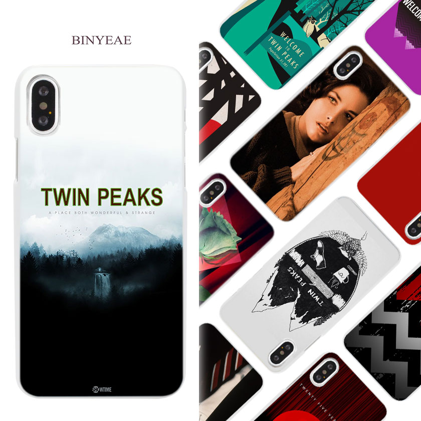 BINYEAE Welcome Twin Peaks Hard White Phone Case Cover Coque Shell for iPhone X 6 6S 7 8 Plus 5 5S SE 4 4S 5C