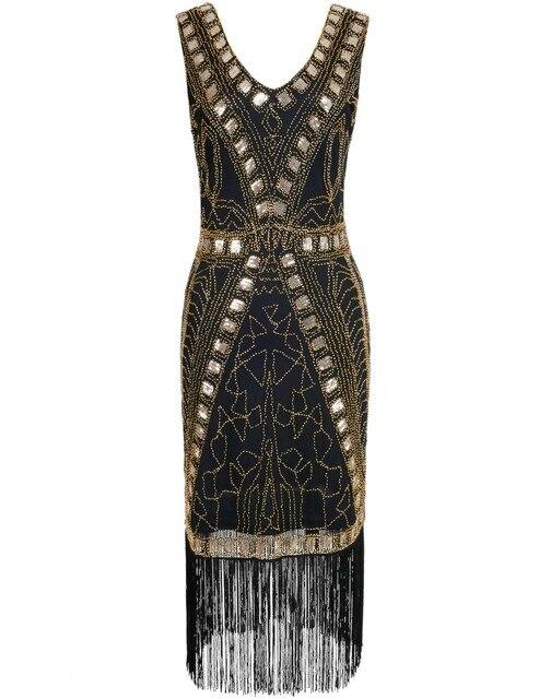 PrettyGuide s mujeres 1920 s Flapper vestido Art Deco lentejuelas ...