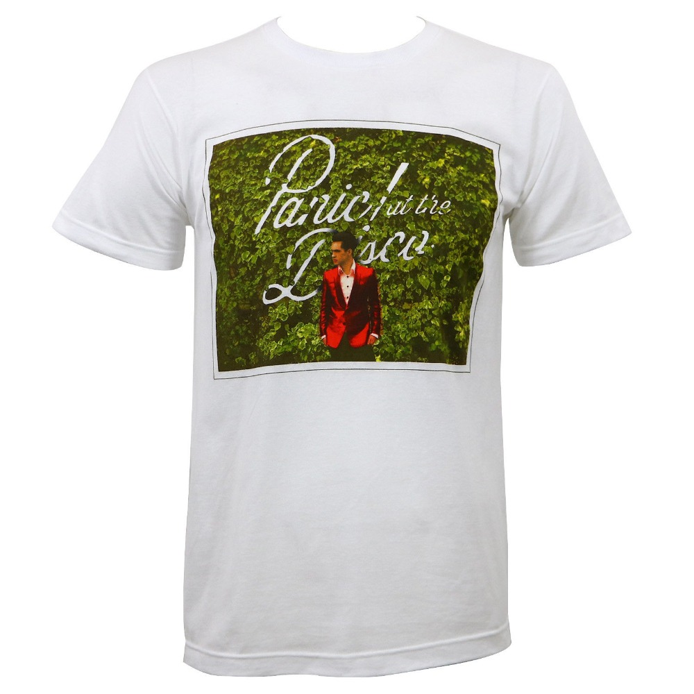 Cotton Shirts PANIC AT THE DISCO PATD Bush Photo Slim-Fit T-Shirt White S-2XL NEW Summer Style Casual Clothing
