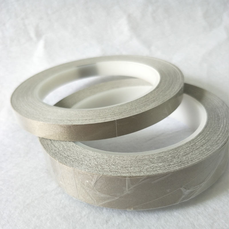 Silver Single Adhesive Conductive Cloth Tape 5mm~18mm Choose 20M Anti-Electromagnetic Interference EMI Shielding Phone PC Cable 25mm 20m single side adhesive silver conductive fabric cloth tape for pc phone lcd cable emi shielding keyboard repair