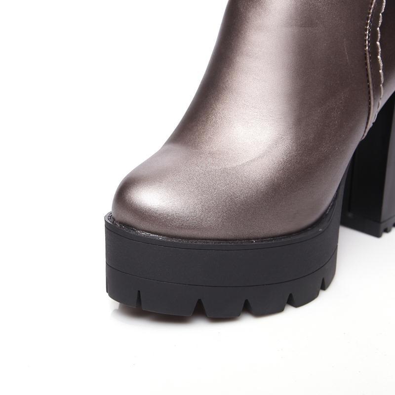 8eb9fe0c ᑎ‰MORAZORA Pracy buty wysokie obcasy kobiet buty wiosna jesień ...