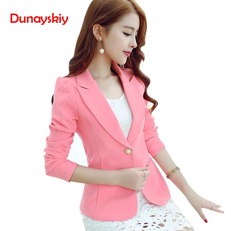 Women Fashion Blazers 2020 Sky Blue Slim Fit Long Sleeve Single Button Coat Slim Office Lady Female Tops Blazer Feminino