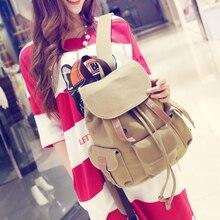 Простой свежий дизайн Корейский стиль холст женщины рюкзак девушки мода досуг сумка старинные сумка