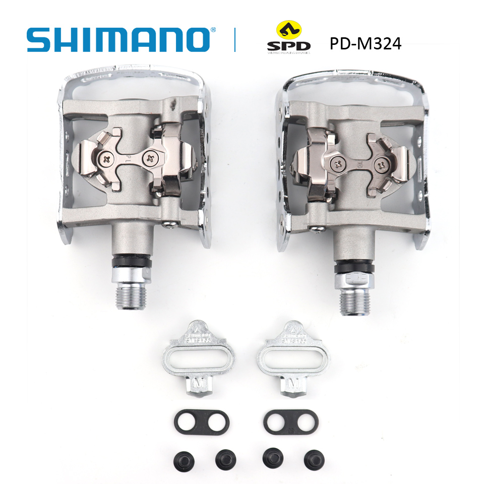 SHINMANO PD M324 SPD Pedal Road Pedals incl cleats SM SH56 Set Bicycle Bike Pedals Parts