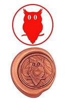 Vintage Cute Owl Custom Luxury Wax Seal Sealing Stamp Brass Peacock Metal Handle Sticks Melting Spoon