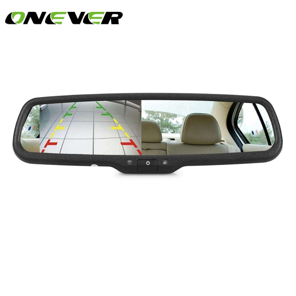 hight resolution of anshilong universal 4 3 tft lcd interior replacement rear view rear view mirror backup camera also ford mustang fuel pump wiring on