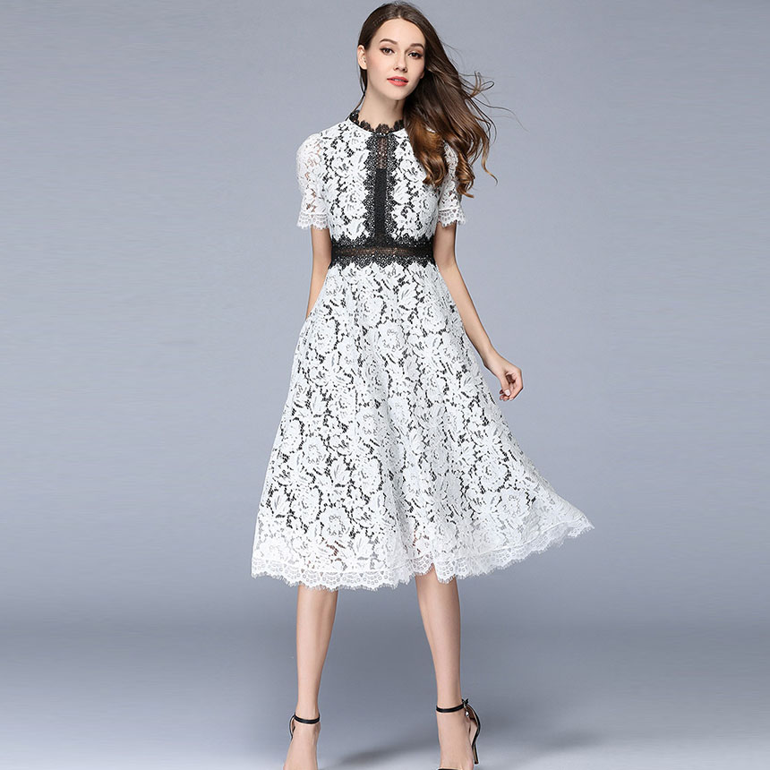4e786a9a3f29e US $23.66 49% OFF|Clobee New European robe femme ete 2017 Summer Women's  Lace Hollow Out Dress Femme Boho Clothing Women Sexy Vintage Dresses -in ...