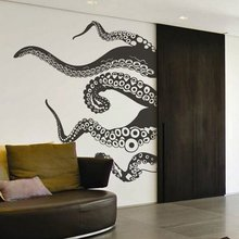 Creative octopus wall sticker Home Living room bedroom wallpaper sofa Background pvc material Wall Sticker