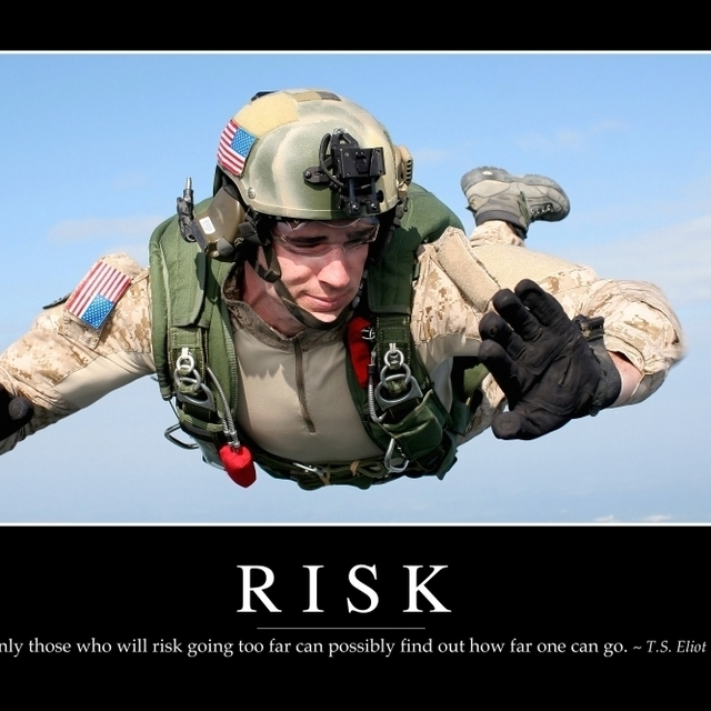 Risk: Inspirational Quote and Motivational Poster Poster Print (34 x 22)