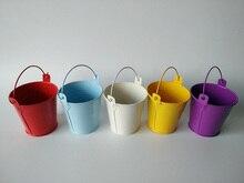 צבעוני מתכת כוס אדניות חתונה דליי מיני דלי עבור תינוק מקלחת מסיבת יום הולדת D5.5XH5.5CM קישוטי ילדים