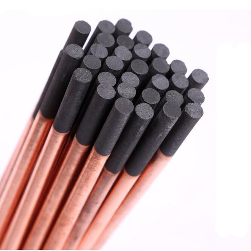 High Quality Arc Gouging Rods Copper Flat Round Graphite Electrode Rod For DC Gas Gouging Gun Electrode Carbon Rods 4-10mm